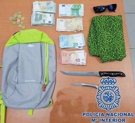 Detenido por atracar a punta de cuchillo un hotel de Las Palmas de Gran Canaria y llevarse 825 euros