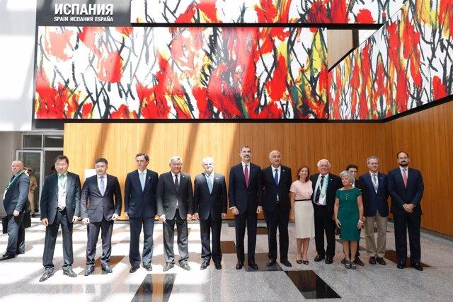 El Rey inaugura el pabellón de España en Astaná 2017