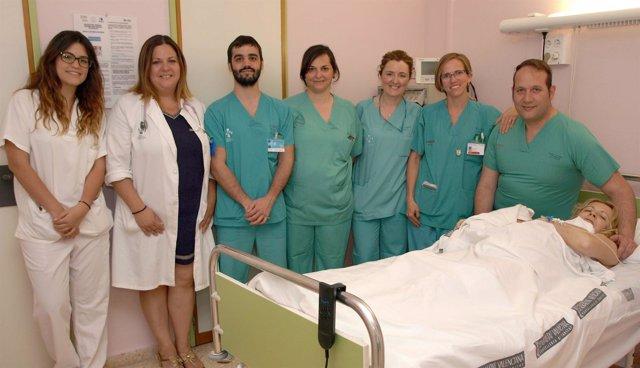 Personal y paciente del Hospital General de Castellón