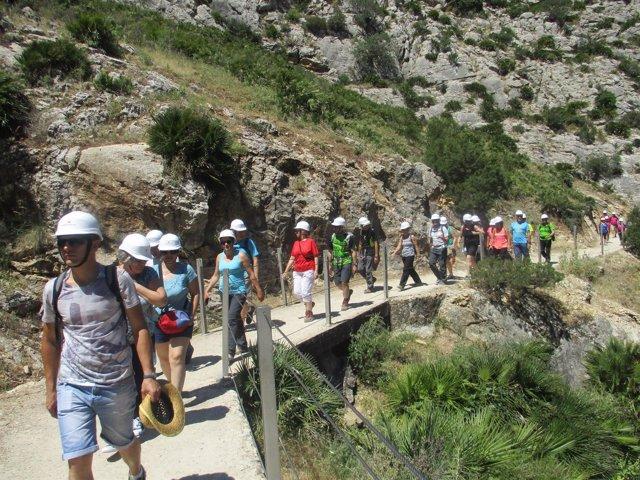 El Caminito del Rey ha sido el protagonista de estas jornadas de senderismo.