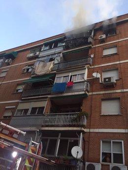 Incendio en una casa de Torrejón