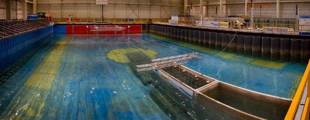 Gran tanque de ingeniería marina del IH Cantabria