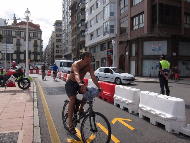 Carril bici de Gijón