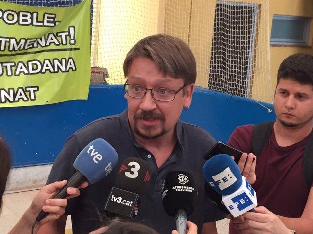 Xavier Domènech (Catalunya en Comú), en Sentmenat (Barcelona)