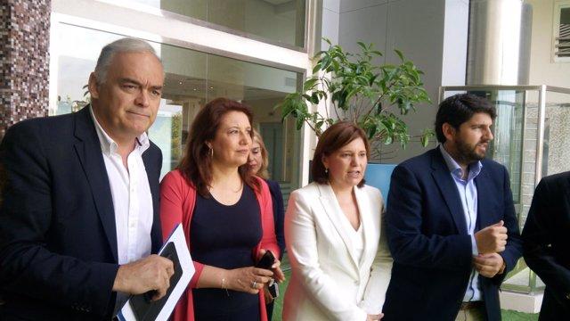 De izq a dcha: González Pons, Crespo, Bonig y López
