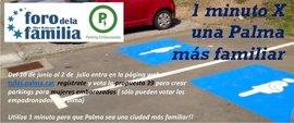 El Foro de la Familia lanza la campaña '1 minuto x una Palma más familiar' que pide plazas de parking para embarazadas
