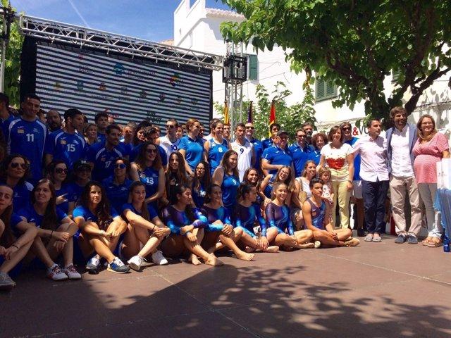 Gonyalons con el deporte de Menorca