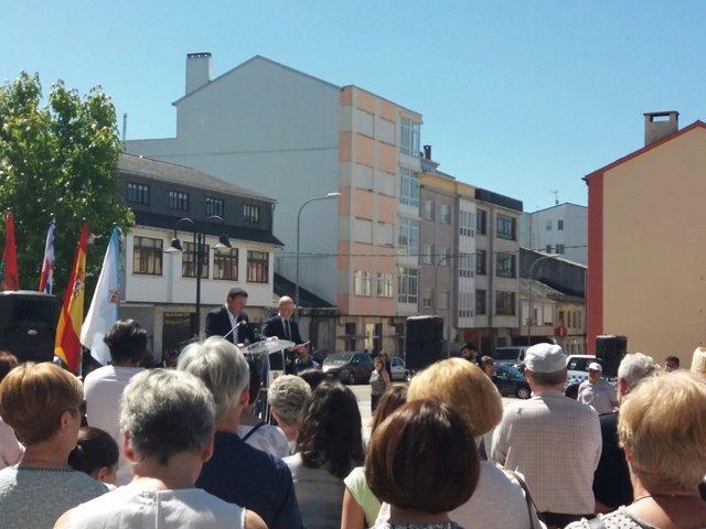 Concentración en As Pontes (A Coruña) en memoria de Ignacio Echevarría