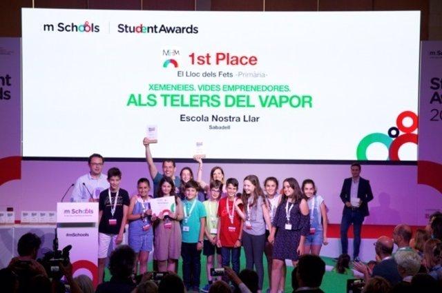 Entrega dels premis mSchools Student Awards