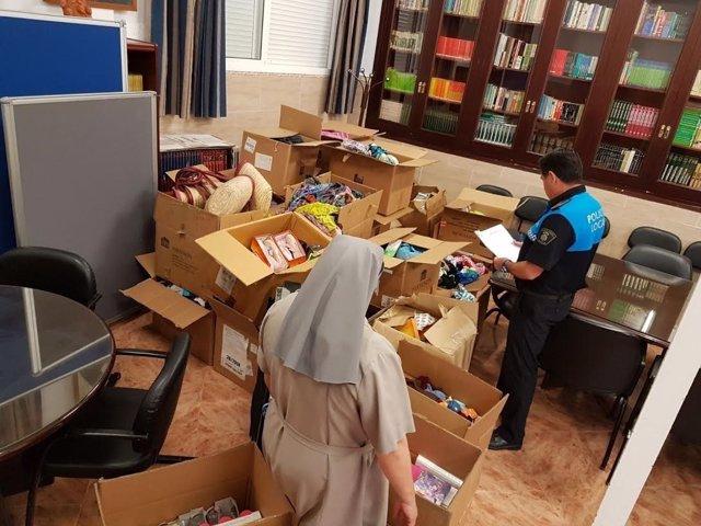 Donan mercancía intervenida a vendedores ambulantes de Melilla