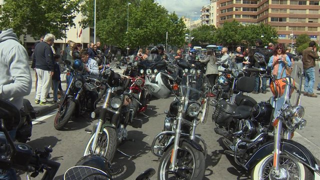 Concentración de motos en Madrid