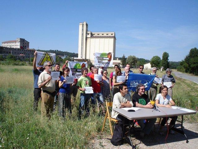 Rueda de prensa de Sustrai Erakuntza en Echavacoiz
