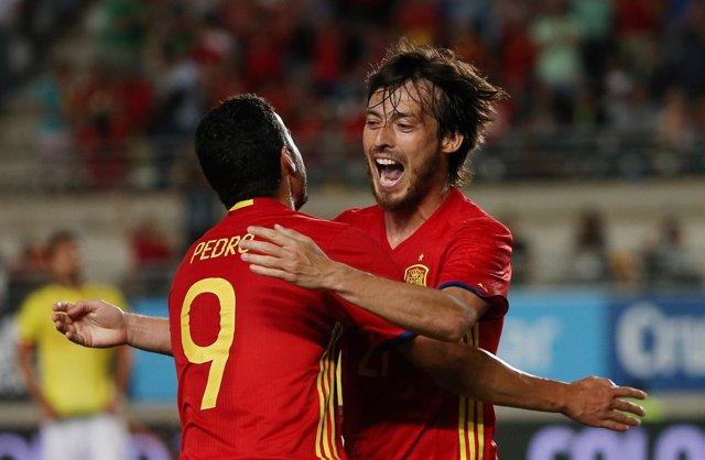Selección española de fútbol, Silva y Pedro