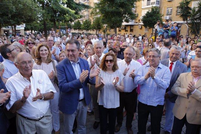 Inauguración de los Jardines Marta del Castillo, en Sevilla