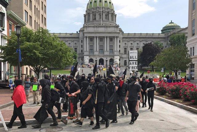 Manifestación de ACT for America contra la sharia en Pensilvania