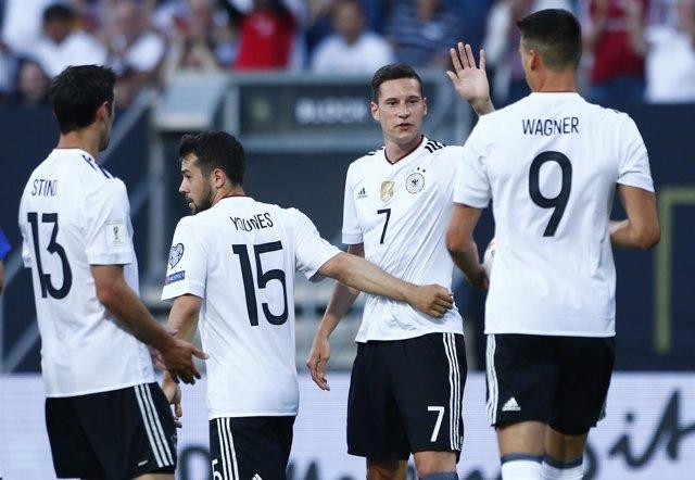 Alemania golea a San Marino y cuenta sus partidos por victorias