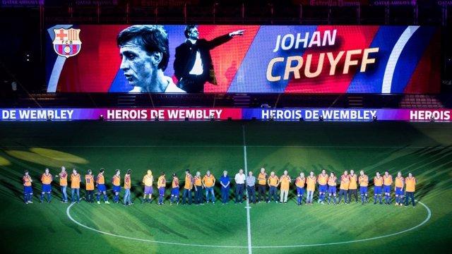 El 'Dream Team' del Barça cierra el homenaje a Wembley '92 con empate sin goles