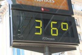 Riesgo por calor en 25 provincias con temperaturas de hasta 40º este domingo
