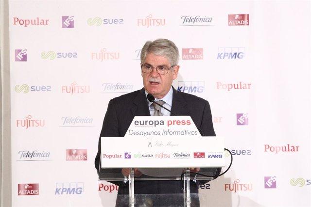 Alfonso Dastis en el Desayuno de Europa Press