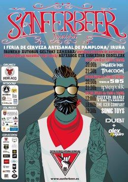 Cartel de 'Sanferbeer', la I Feria de Cerveza Artesana de Pamplona