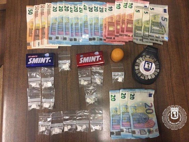 Sustancias estupefacientes del individuo detenido