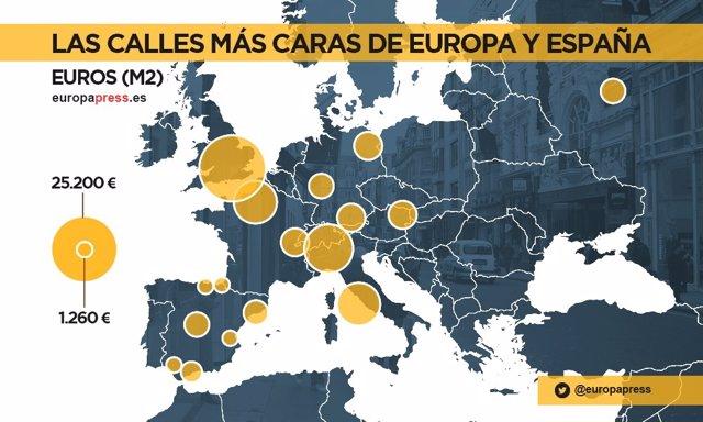 Calles más caras de Europa