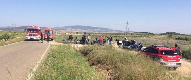 Dos motoristas heridos en una colisión en Cintruénigo