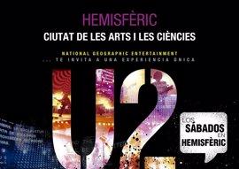 Un 'Viaje al Espacio' y el rock de U2 en tres dimensiones, propuestas para verano del Hemisfèric