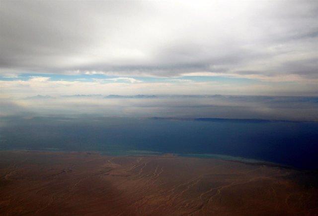 Islas de Tirán y Sanafir, en el mar Rojo