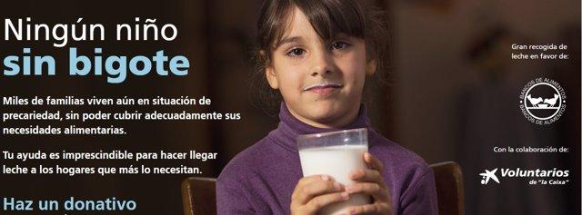 FESBAL y La Caixa vuelven a lanzar la campaña de recogida de leche 'Ningún niño