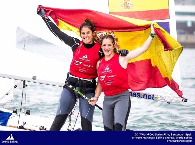 España consigue un oro y un bronce en la final de la World Sailing en Santander