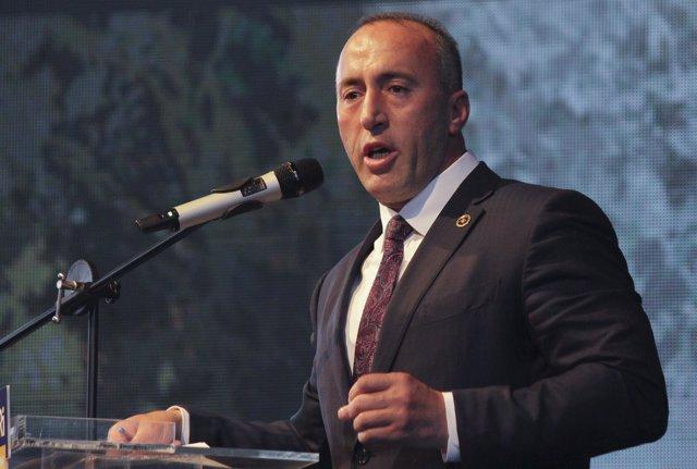 El político kosovar Ramush Haradinaj