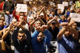 Manifestación en Rabat en apoyo a las movilizaciones sociales de Alhucemas