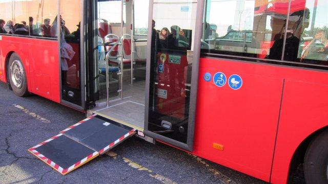 Rampa de autobús urbano de Zaragoza