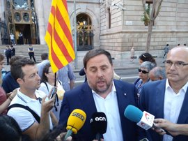 """Junqueras: """"Estamos convencidos de que ganaremos en defensa de la democracia"""""""