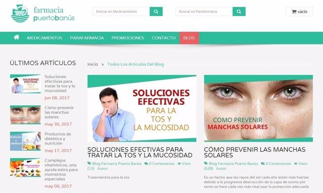 Portal de farmacia online
