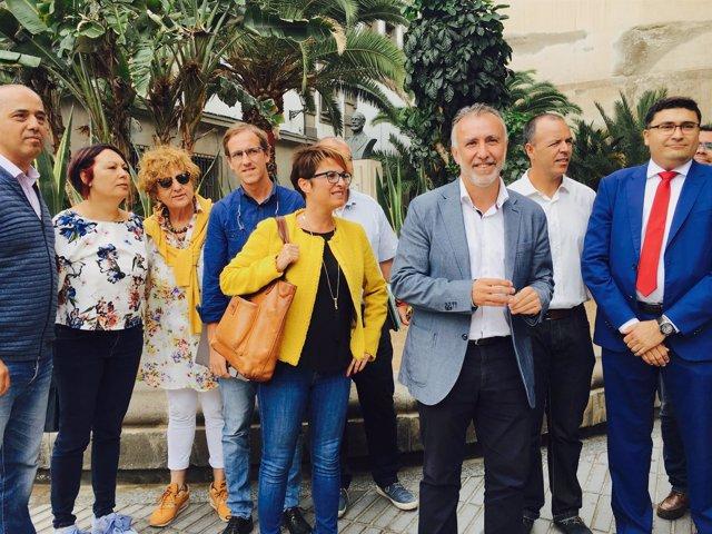 Ángel V. Torres presenta su candidatura a la Secretaría General del PSOE canario