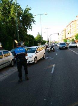 Imagen del accidente en Juan Carlos I