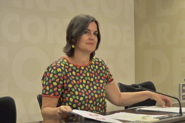 La portavoz de Hacienda del Grupo Parlamentario del PAR, Elena Allué.