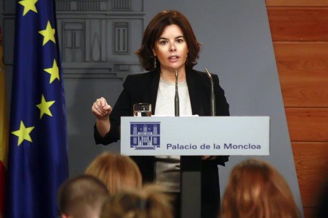 Comparecencia de Soraya Sáez de Santamaría en Moncloa