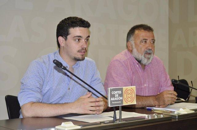 Darío Villagrasa y Herminio Hernando en las Cortes.