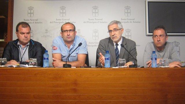 Alperi, Manzano, Llamazares y Zapico en la Junta General del Principado