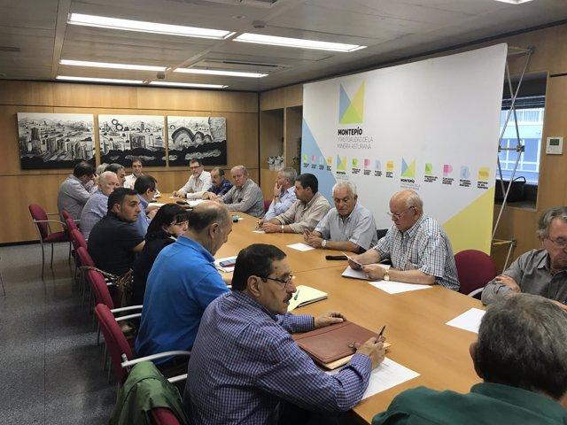 Reunión órgano de dirección del Montepío.