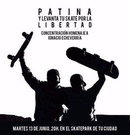 Cartel del homenaje a Ignacio Echevarría