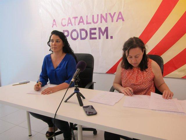 Las dirigentes de Podem Catalunya L.Haba y N.Bail