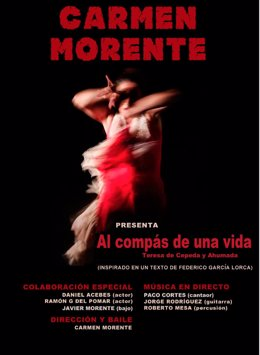 Valladolid, Cartel del espectáculo de Carmen Morente