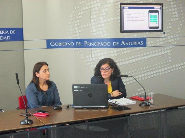Pepa Gómez y Concepción Saavedra