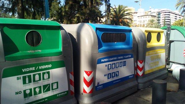 Contenedores de reciclaje en Palma