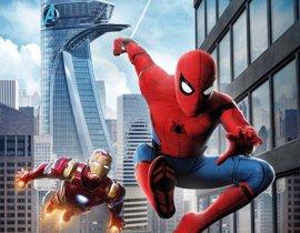 Iron Man y Spider-Man surcan los cielos en el cartel final de Homecoming