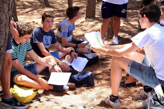 Alumnos repasan antes de la Selectividad